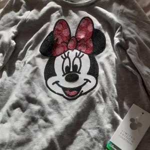 NEW Sequin Minnie Mouse Shirt (Long sleeve)